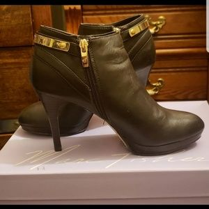 Marc Fisher Gold Plating Low Ankle boots